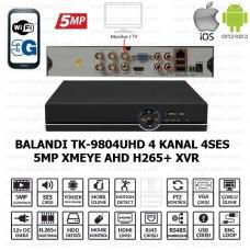 Balandi TK-9804UHD 4CH 4SES 1Disk 5MP Xmeye H265+  5MP-N/4MP-N/3MP-N/2MP-1080P/1MP-720P/ANALOG-960H