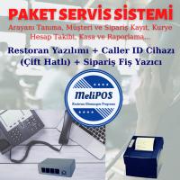 MeliPOS Sipariş Sistemi - Caller Id Cihazı (2 Hatlı) + Sipariş Fiş Yazıcı (80 mm) + Yazılım