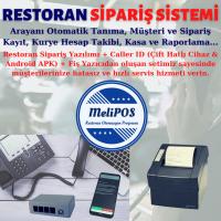 MeliPOS Paket Servis Sipariş Sistemi - Caller Id Cihazı (2 Hatlı) + Sipariş Fiş Yazıcı (Palmx ZJ-8330) + Yazılım