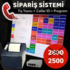 MeliPOS Paket Servis & Gel Al Sipariş Sistemi - Caller Id Cihazı (2 Hatlı) + Sipariş Fiş Yazıcı (Palmx ZJ-8330) + Yazılım