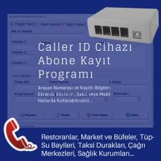 Müşteri Tanıma Sistemi (2 Hatlı Caller ID Cihazı + Müşteri Kayıt Yazılımı)